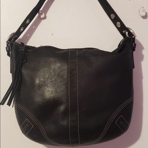 Coach All Black Circle Hobo Bag